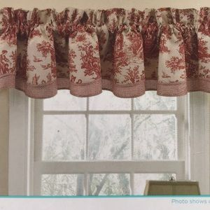Waverly Red Toile Fairfield Valance